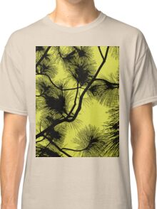 Desert flora, abstract pattern, floral design, black and yellow Classic T-Shirt