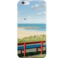 benches with views of Ballybunion beach and coast iPhone Case/Skin