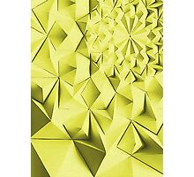 Yellow fractals pattern, geometric abstraction Photographic Print