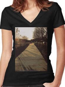 ~The Road Ahead~ Women's Fitted V-Neck T-Shirt