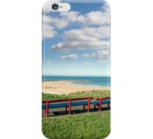 benches with views of Ballybunion beach iPhone Case/Skin