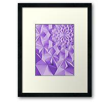 Purple fractals pattern, triangles, geometric Framed Print