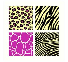 Animal print animal patterns. Original illustration. Art Print