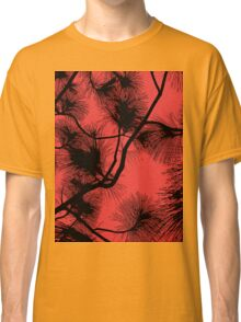 Desert flora, abstract pattern, floral design, black and red Classic T-Shirt
