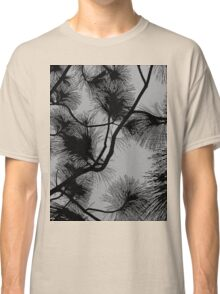 Desert flora, abstract pattern, floral design, black and gray Classic T-Shirt