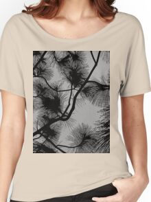 Desert flora, abstract pattern, floral design, black and gray Women's Relaxed Fit T-Shirt