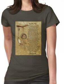 """Live Your Life""  by Chief Tecumseh dream catcher Womens Fitted T-Shirt"