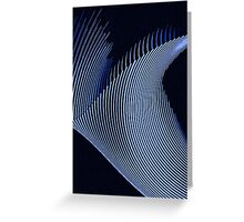 Blue waves, line art, curves, abstract pattern Greeting Card