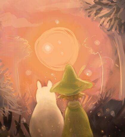 Moomin & Snufkin Sunset Sticker
