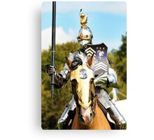 jousting knight Canvas Print