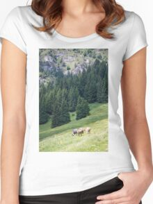 mountain landscape Women's Fitted Scoop T-Shirt
