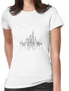 Aesthetic Sleepy Castle Womens Fitted T-Shirt