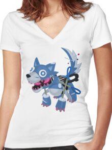 Frightfur Wolf - Yu-Gi-Oh! Women's Fitted V-Neck T-Shirt