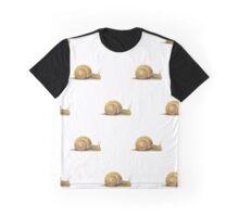 Watercolour Snail Pattern Graphic T-Shirt