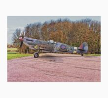 Supermarine Spitfire MJ730 (Drawing) One Piece - Long Sleeve