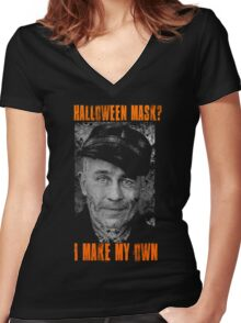 Ed Gein - Halloween Mask Women's Fitted V-Neck T-Shirt