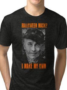 Ed Gein - Halloween Mask Tri-blend T-Shirt