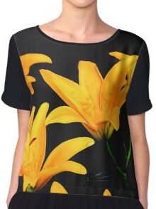 Digital Lilies Chiffon Top