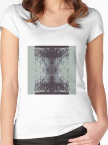 Digitized Brush Women's Fitted Scoop T-Shirt