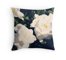 Gardenia Flowers Throw Pillow