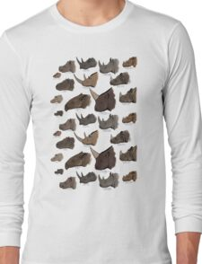 Rhinocertidae - extant rhinos and their relatives. Long Sleeve T-Shirt