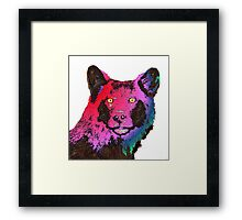 Rainbow Wolf Framed Print