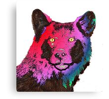 Rainbow Wolf Canvas Print