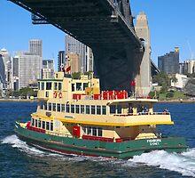 Sydney Ferry and Harbor Bridge by martinberry