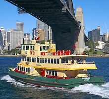 Sydney Ferry and Harbor Bridge by Martin Berry Photography