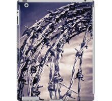 coil of blue toned barbed wire iPad Case/Skin