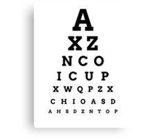 'ICUP' EYE CHART Canvas Print