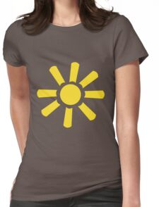 Yellow Wide Sun Womens Fitted T-Shirt