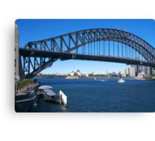 Sydney Harbor Bridge and Opera House Canvas Print