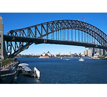 Sydney Harbor Bridge and Opera House Photographic Print