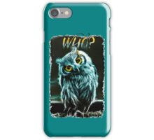 NEON OWL - WHO? iPhone Case/Skin