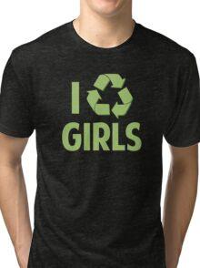 I Recycle Girls Tri-blend T-Shirt