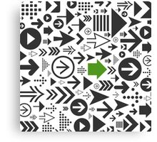 Background of arrows Canvas Print