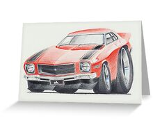 Holden HQ SS in Red by Glens Graphix Greeting Card