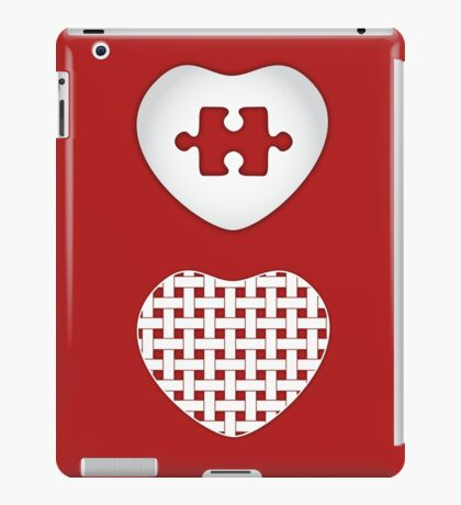 Love Heart Poster - Solid, Knitted & Puzzled Hearts iPad Case/Skin
