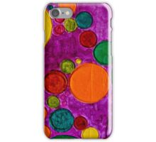 COLORFUL GEOMETRIC CIRCLES AND BUBBLES iPhone Case/Skin