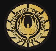 Battlestar Pegasus Golden Logo (model 2) by ObiOneStenobi
