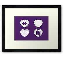 Love Heart Poster - Solid, Knitted & Puzzled Hearts Framed Print