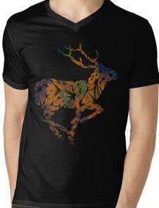 Deer Beauty Mens V-Neck T-Shirt