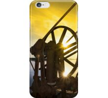 crane gears on Salleen pier with sunset iPhone Case/Skin