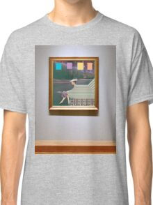 woman by road (in museum) Classic T-Shirt