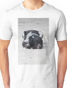 dog in the street Unisex T-Shirt