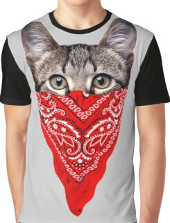 Gangster Cat Graphic T-Shirt