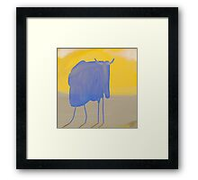 Its too hot for transparent Bizons  here Framed Print