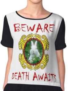 Killer Rabbit - Beware, Death Awaits Chiffon Top