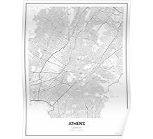 Athens Minimalist Map Poster